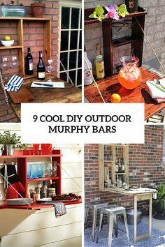 9 Cool Diy Outdoor Murphy Bars For Refreshing Outside Murphy Bar