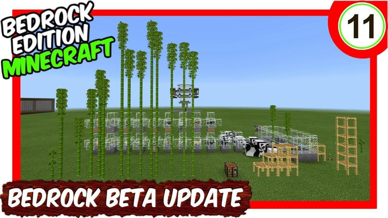 Pandas new cats bamboo scaffolding preview bedrock