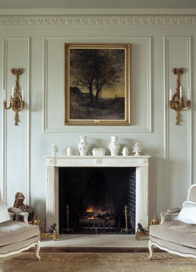 Considering Space Scale And Millwork Above The Fireplace Wall Sconces Living Room Dining Room Wainscoting Decorating Styles Defined