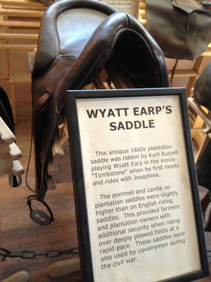 Antique plantation saddle ridden by Kurt Russell in the film