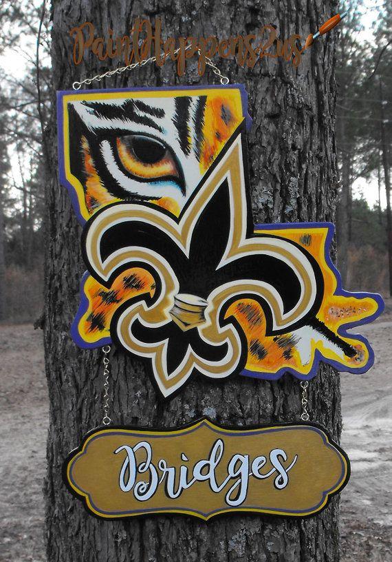 Louisiana Door Hanger Lsu Geaux Tigers Lsu Logo Louisiana Shape Fleur De Lis Decor Saints Door Hanger Door Hanger Template Louisiana Decor Lsu Tigers Art