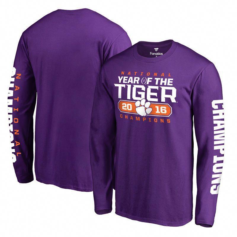2b3cdf2948333 Clemson Tigers Fanatics Branded College Football Playoff 2016 National  Champions Play Action Long Sleeve T-Shirt - Heather Purple  footballtips