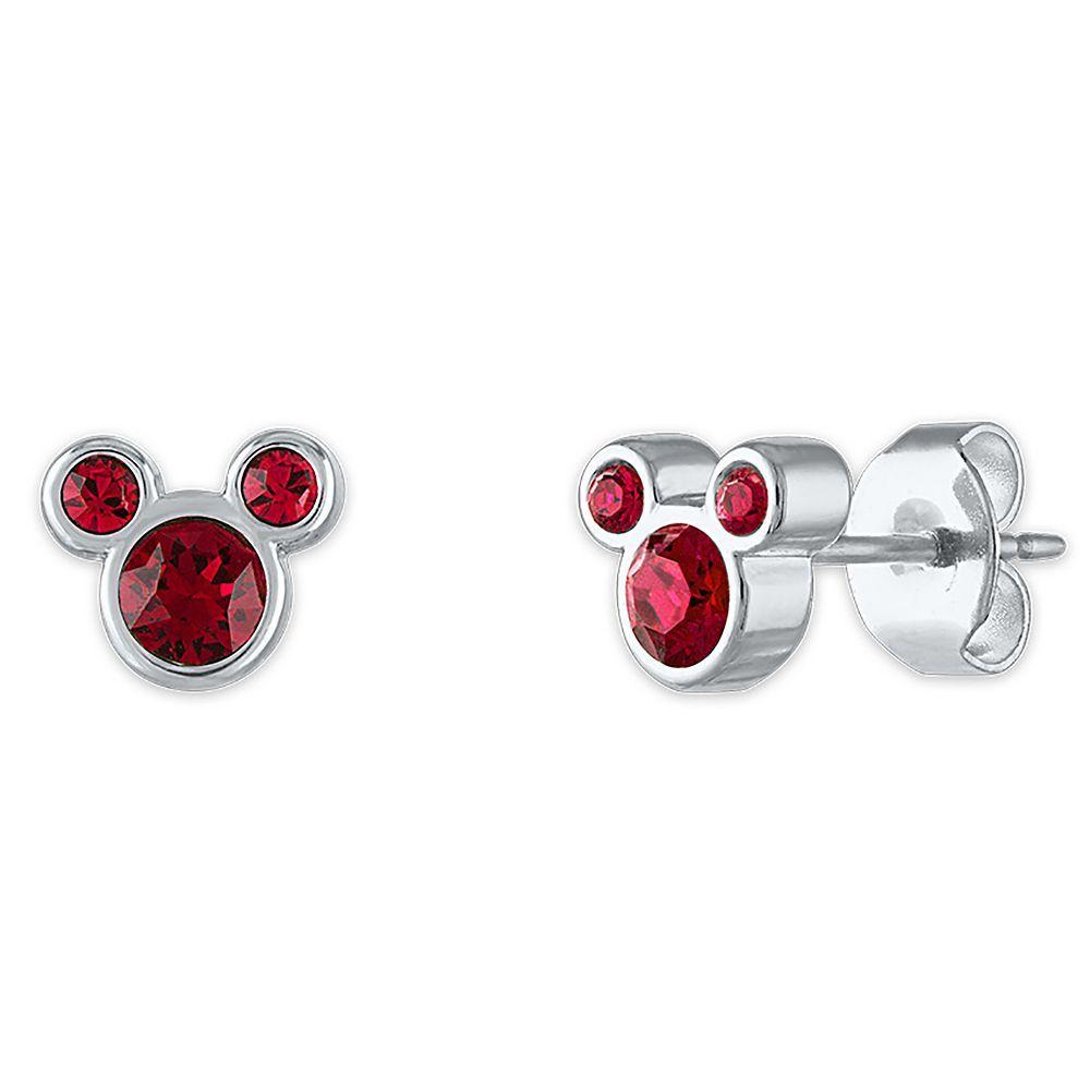 Mickey Mouse Swarovski Crystal Birthstone Earrings   shopDisney in ...