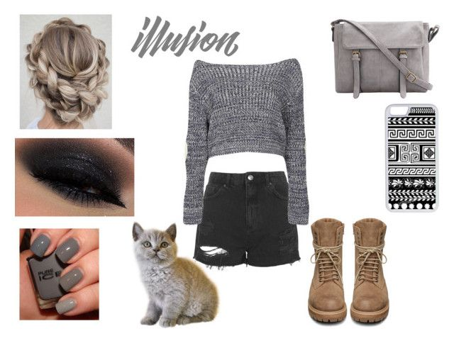 """""""#57"""" by dantelein ❤ liked on Polyvore featuring Rick Owens, Topshop, Boohoo and CellPowerCases"""