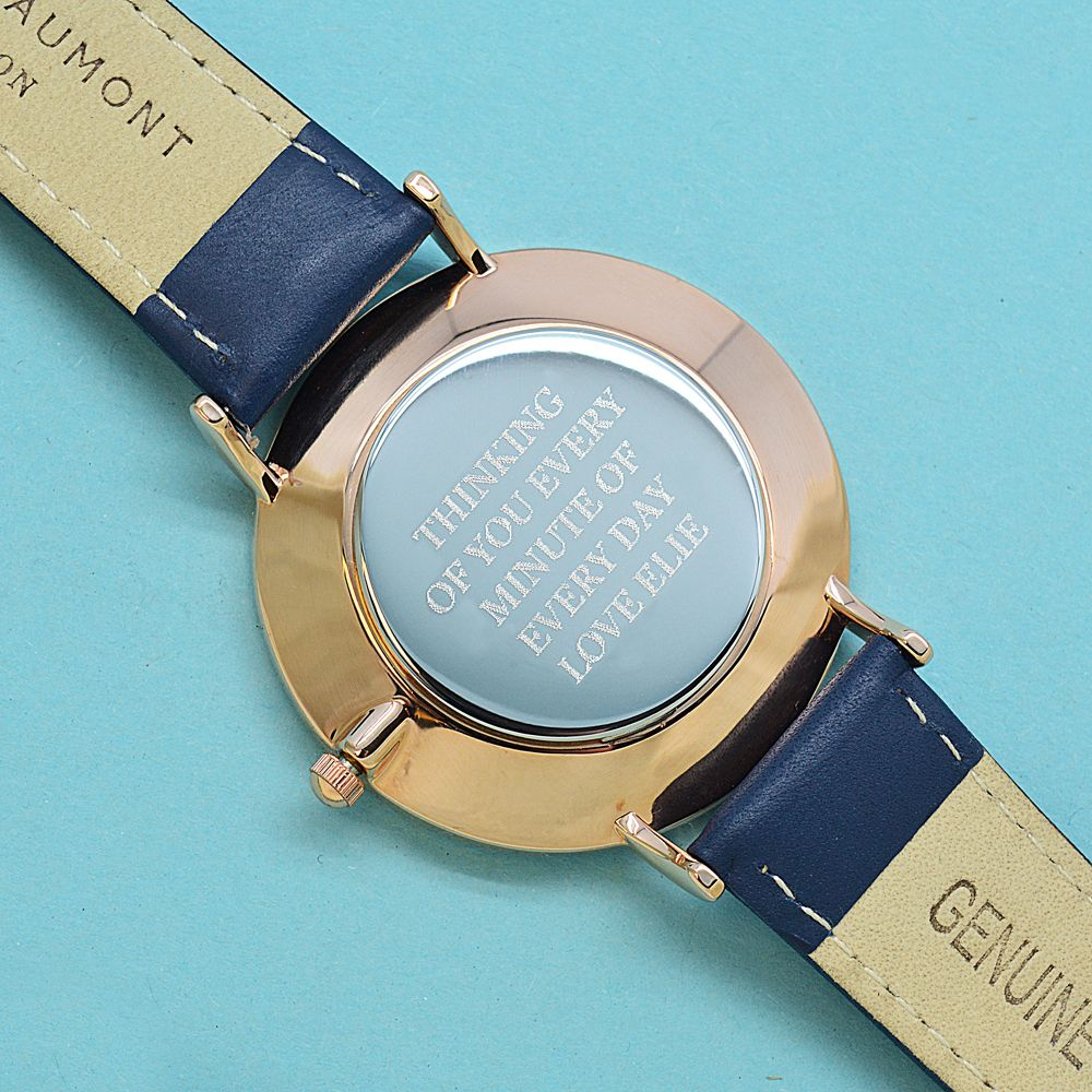 Watch Engraving Quotes: Vintage Personalized Leather Watch