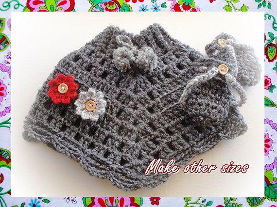 Baby Poncho Crochet Pattern-make other sizes #babyponcho