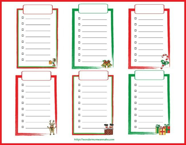 Christmas List Maker Printable - Arch-times
