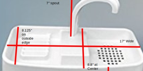 Here Are The Measurements For The Original Sink Twice By Sinktwice Toilet Tank Sink Small Lid Sinktwice Also Sells A Toilet Tank Sink Water Conservation