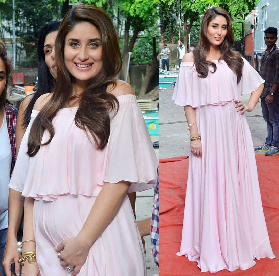 Kareena Kapoor Khan Shows Off Her Baby Bump Dresses For Pregnant Women Stylish Maternity Outfits Maternity Dress Outfits