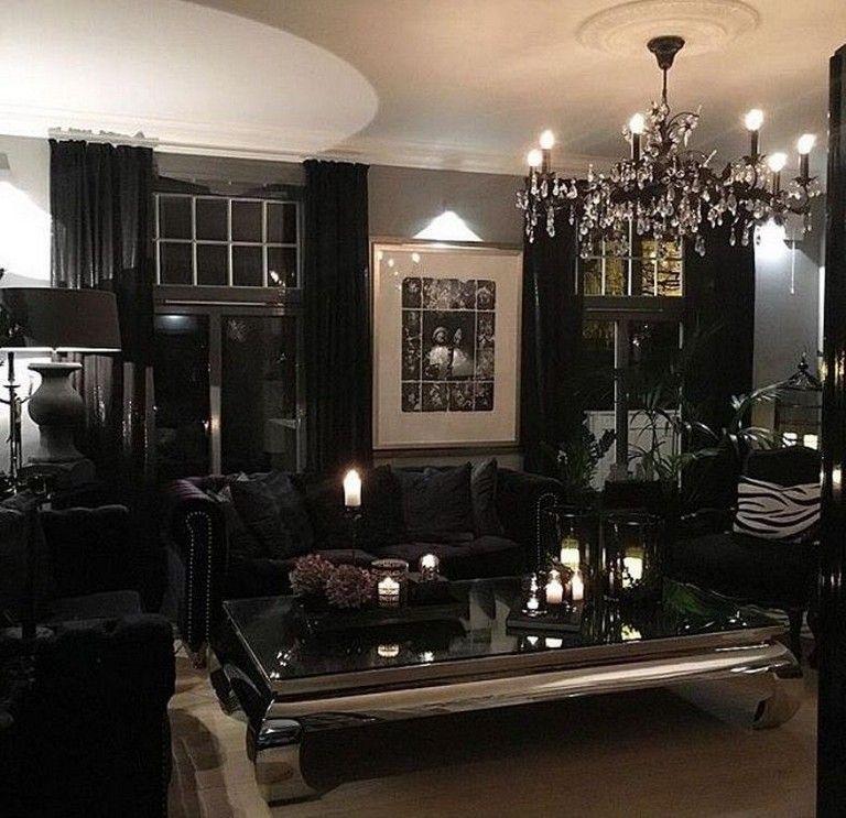 Modern Glam Living Room Decorating Ideas 19: 25 Amazing Gothic Living Room Design And Decorating Ideas