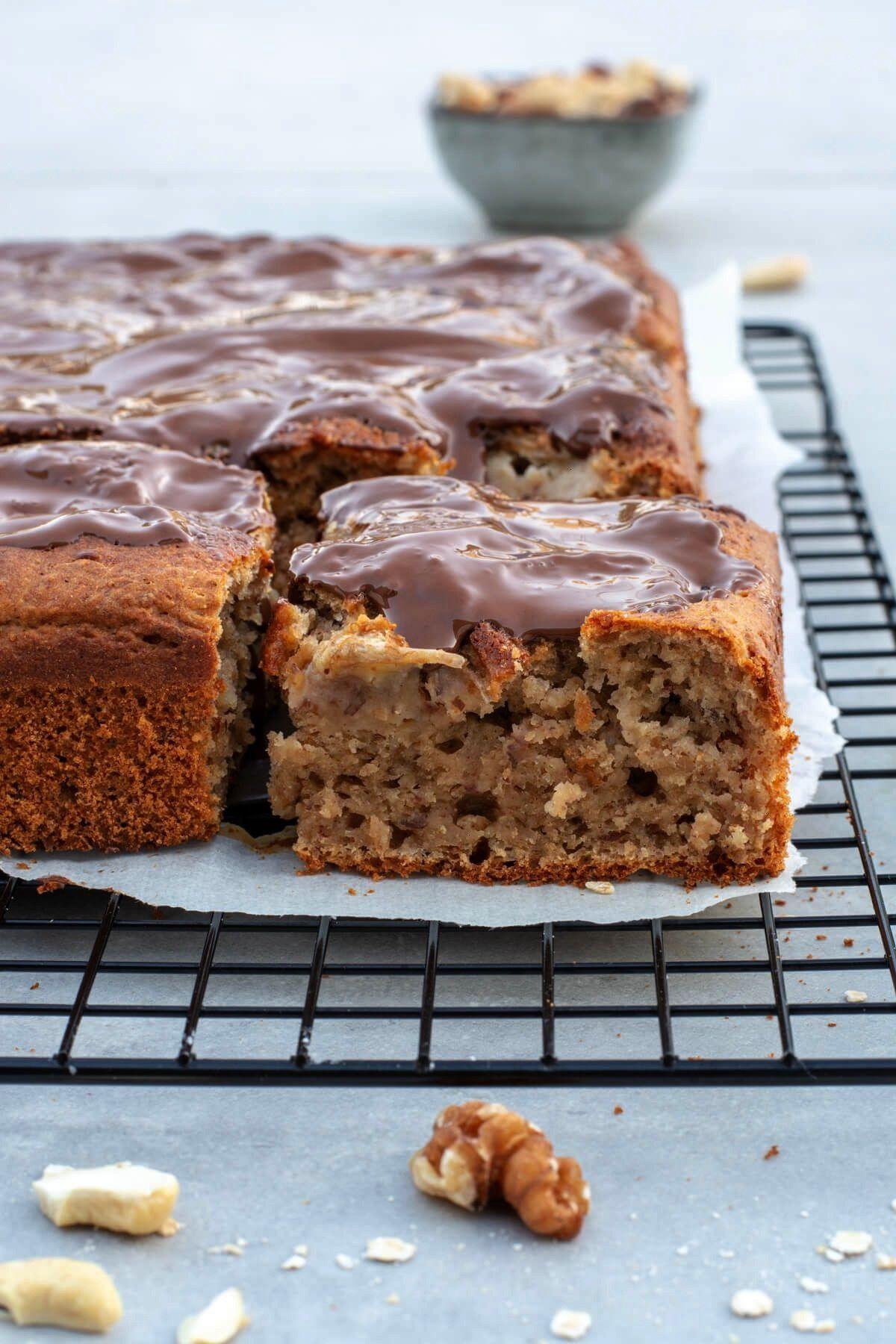 banana cake without sugar - Baking Barbarine -  Juicy banana cake without sugar – Baking Barbarin