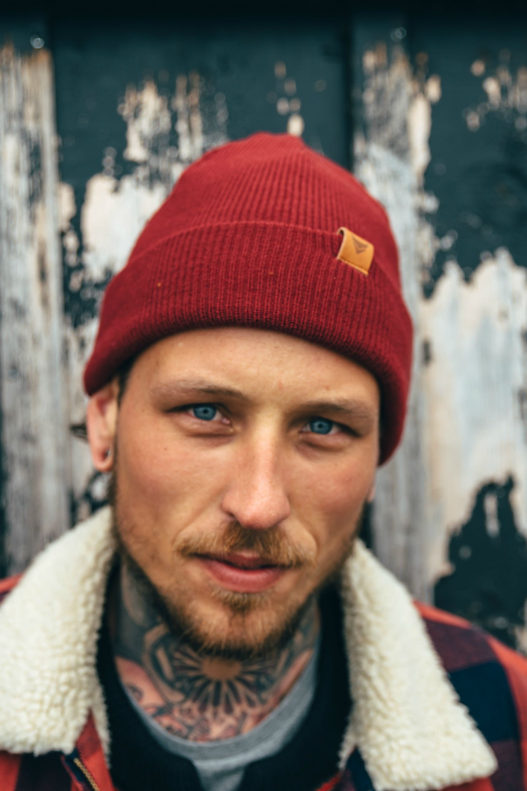 Wool Beanies for Men. Casual and Cool Burgundy Outdoor look for men. Urban Fisherman  beanie by VAI-KØ. Shop now! 744d4e85801