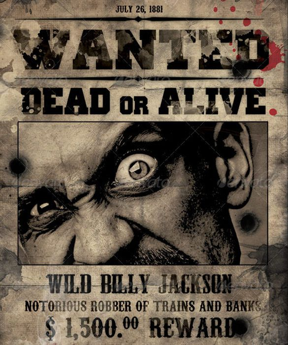 Wanted Poster Template – 53+ Free Printable Word, PSD, Illustration ...