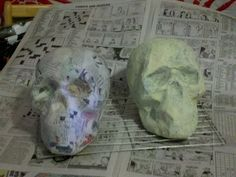 I found a great tutorial on how to make paper mache skulls this year. I'm very happy with the results. It's a cheap easy way to get a ton of skulss.Here's some pictures of the 2 I made this year.I plan on making more next year for sure.Here's the link to the page if anyone is interested.http://www.spookyblue.com/halloween/...ache-skull.htm