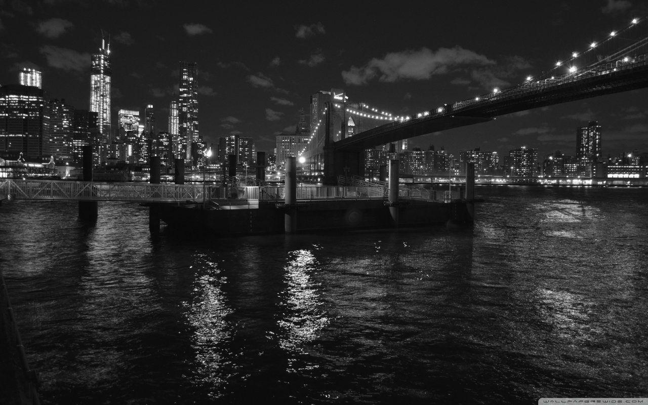 Dessus Une Pont Debrooklyn New Yorken Noir Blanc 200766 Jpg 1280 800 Bruklinskij Most Cherno Beloe Foto Cherno Beloe