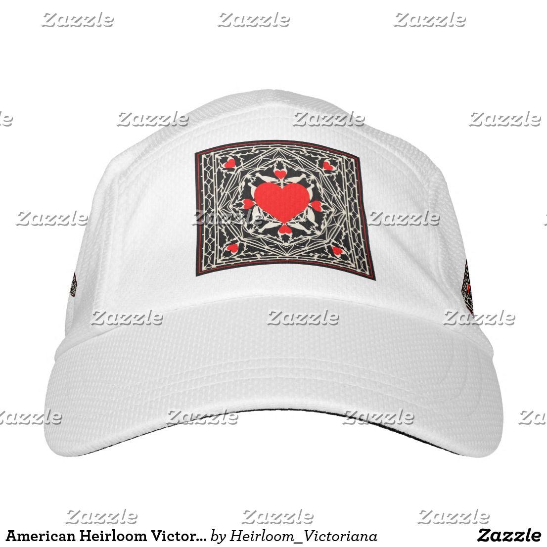 American heirloom victorian hearts and love birds headsweats hat