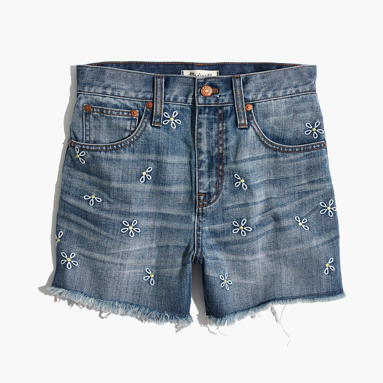 170f46b1b8a8 Madewell The Perfect Jean Short: Daisy Embroidered Edition ...