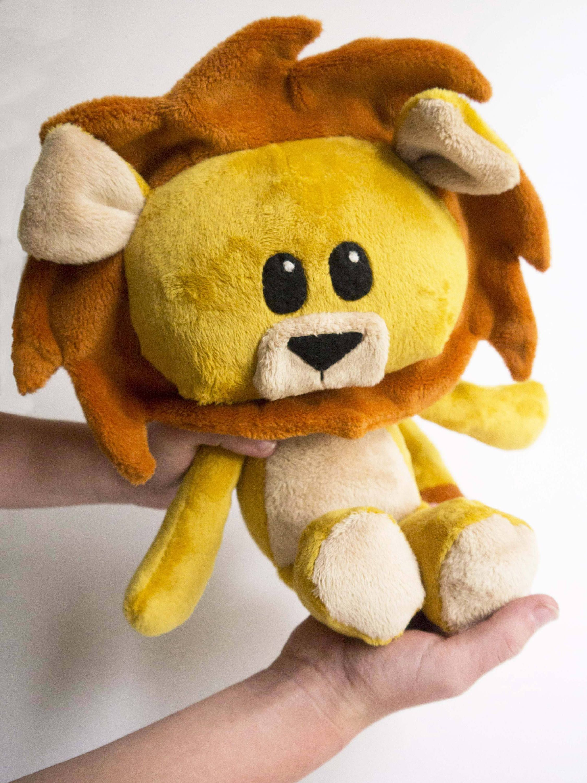 Softie, Lion Plush stuffed animal PDF pattern; sewing pattern ...