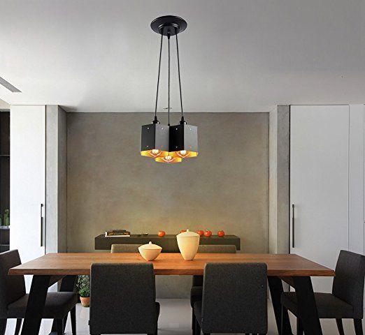Metallo Moderni Lampadario a soffitto, Lampada a ...