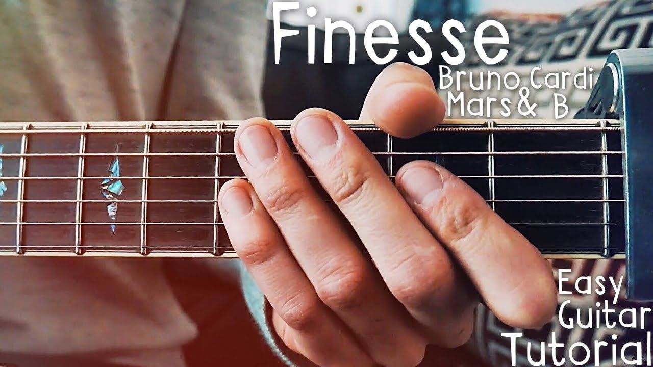 Finesse Bruno Mars Guitar Lesson For Beginners Finesse Guitar