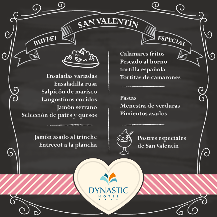 Enamórate con nuestro #buffet especial de #SanValentín! ❤ ❤  ➡ http://bit.ly/GalaSanValentinDynastic   Fall in #love with our especial buffet of Valentine's Day!   ➡ http://bit.ly/1LgD2Kn  #Benidorm #StValentinesDay