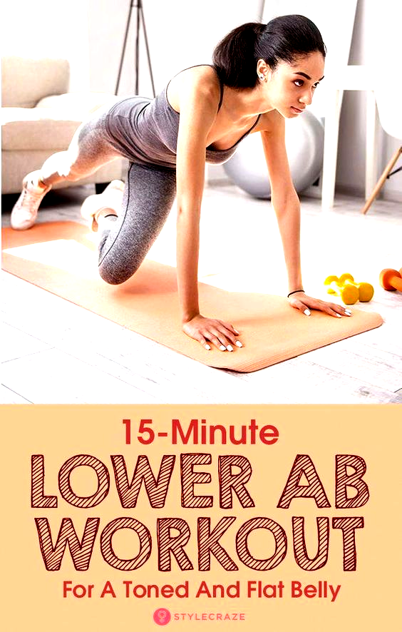 12 Best 15-Minute Lower Ab Workouts For A Toned, Strong, And Flat Belly #BellyFat #Fitness #Exercise...