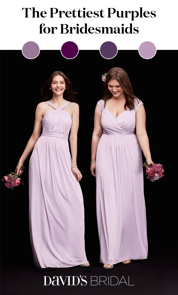 Looking For Beautiful Dresses Your Bridesmaids From Plum To Raspberry Iris Wisteria Purple Bridesmaid Are Trending Whether You R