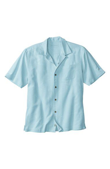 Tommy Bahama Tommy Bahama 'Bedarra' Jacquard Silk Camp Shirt (Big & Tall) available at #Nordstrom
