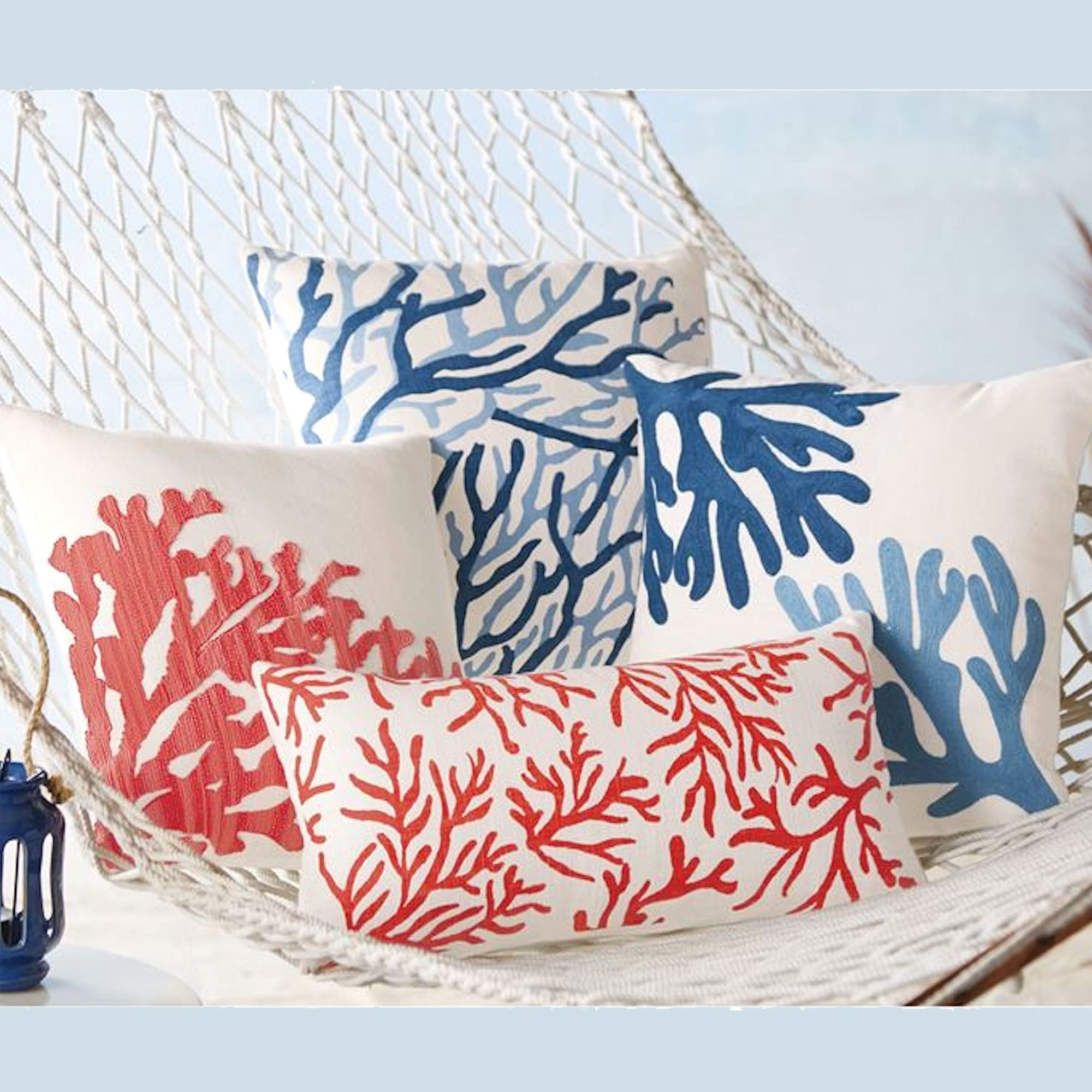 Photo of Coral Coastal Decorative Accent Pillows