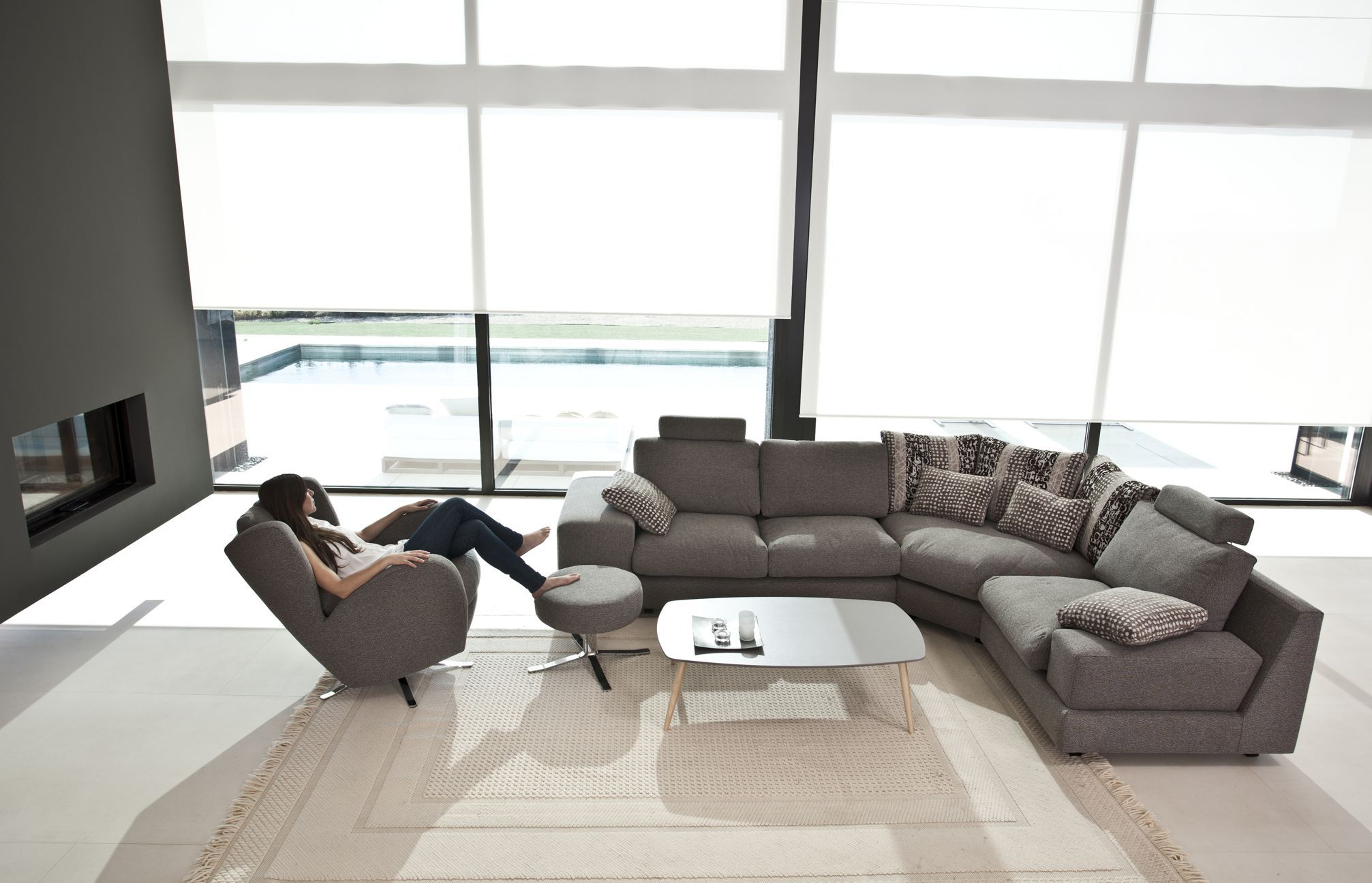 Calisto Modern Sectional Sofa By Fama Sofas Spain Modern  # Muebles Yecla Eva