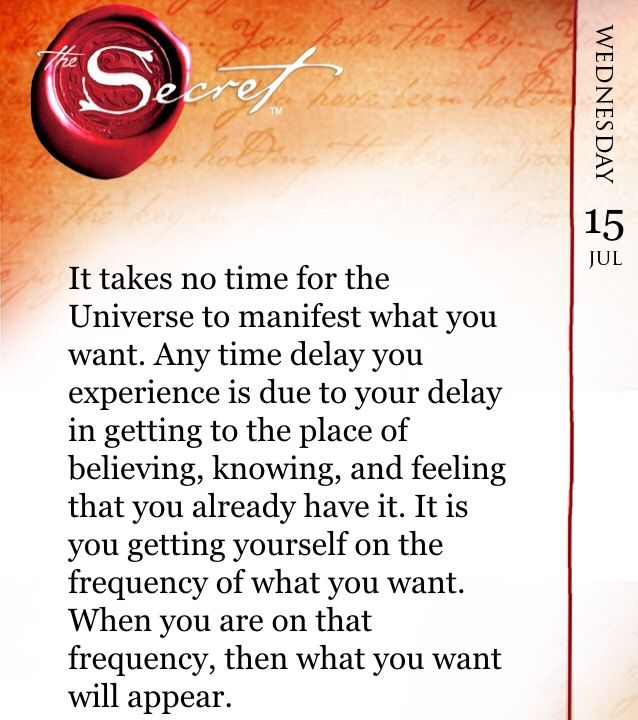 It Takes No Time For The Universe To Manifest What You Want Any