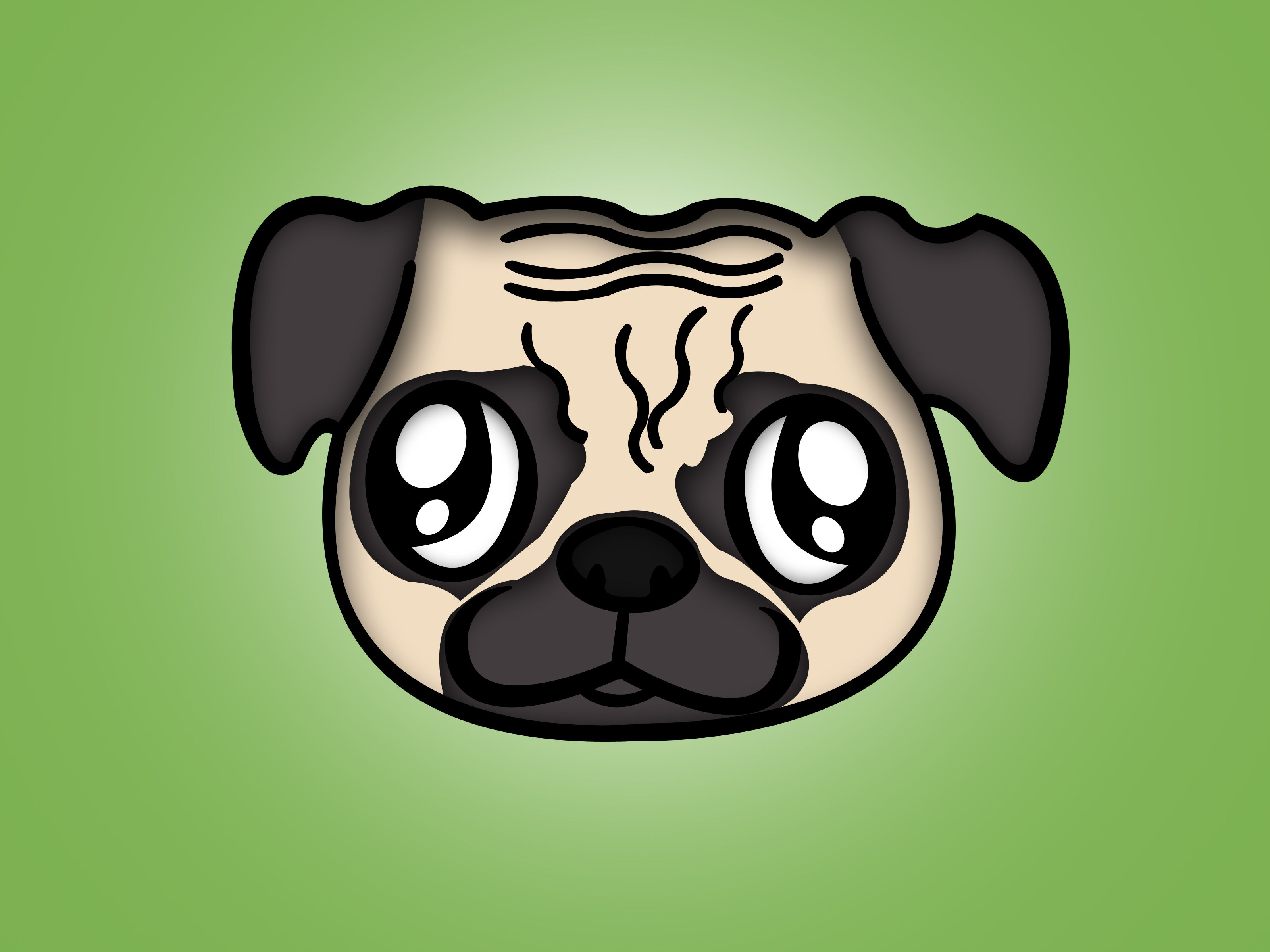 Draw A Pug Cute Puppies Cute Dogs Anime Puppy
