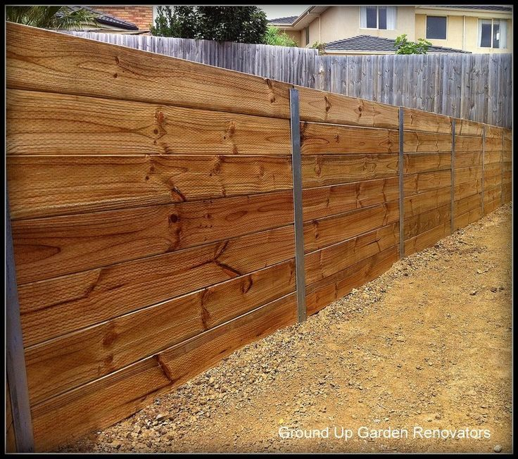 Timber Lagging Wall Landscaping Retaining Walls Backyard Retaining Walls Retaining Wall