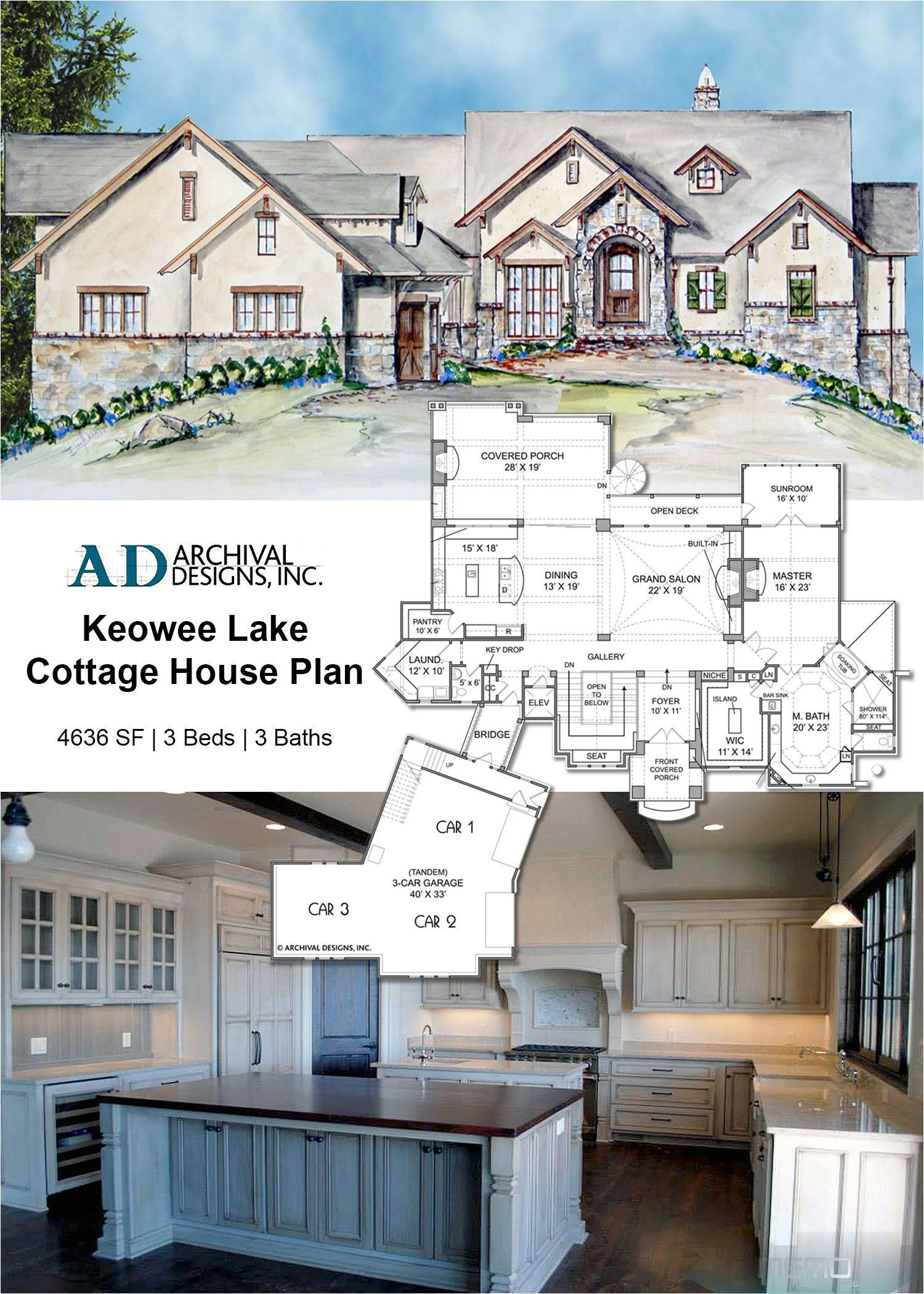 Jun 25 2019 With Old World Natural Stone Accents Rustic Stucco And Wood Trim This Home Design Evokes A Sty Cottage House Plans Lake House Plans House Plans
