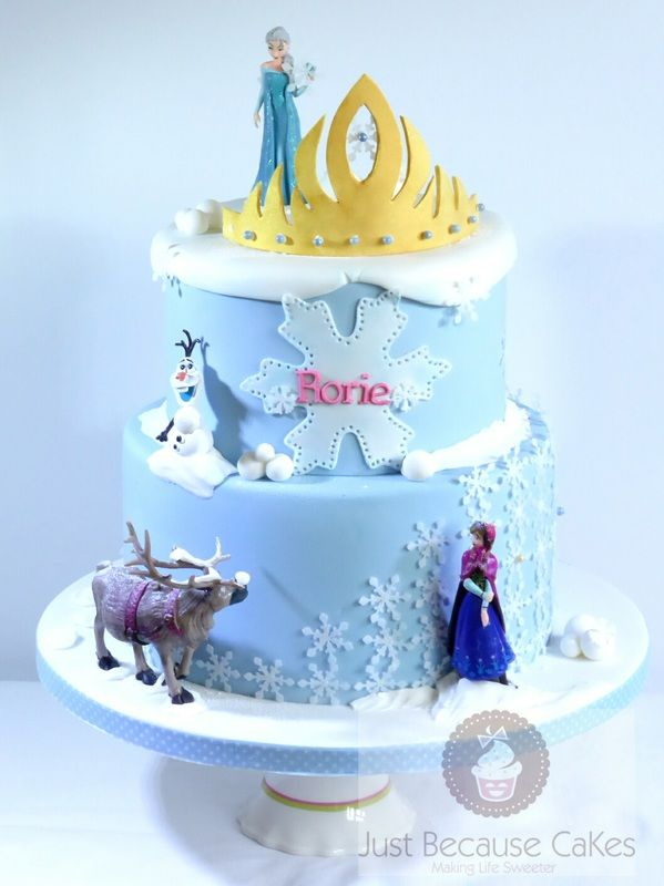 Frozen cake by justbecausecakes UK movie Frozen Pinterest Cake