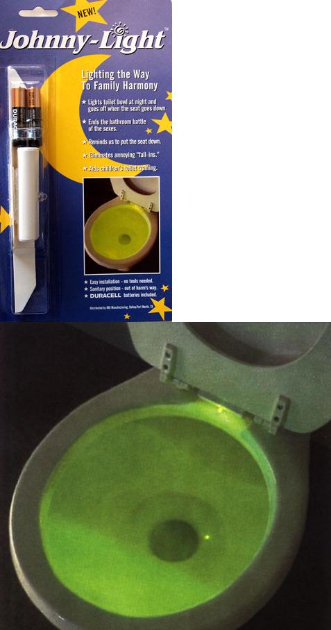 Johnny Light Provides Light On The Toilet Bowl At Night