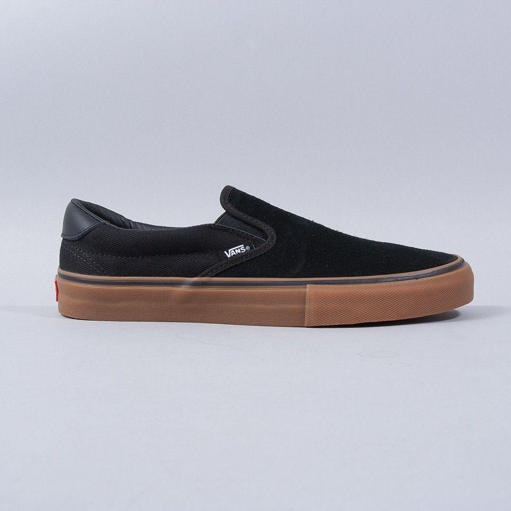 vans slip on black gum