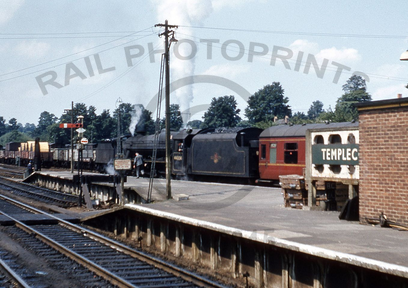 Somerset /& Dorset Joint Railway. 2 Templecombe Lower Railway Station Photo