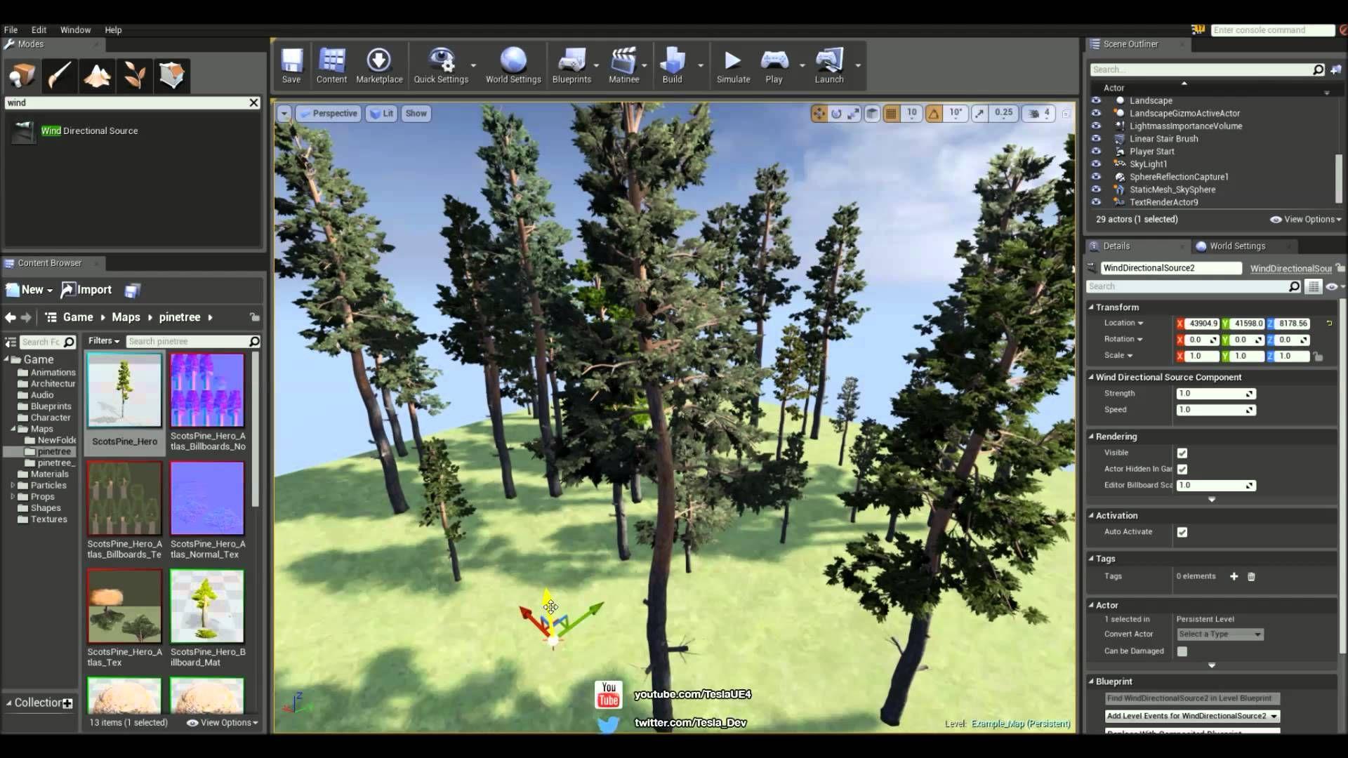 SpeedTree Tutorial - Wind inside Unreal Engine 4 | Unreal