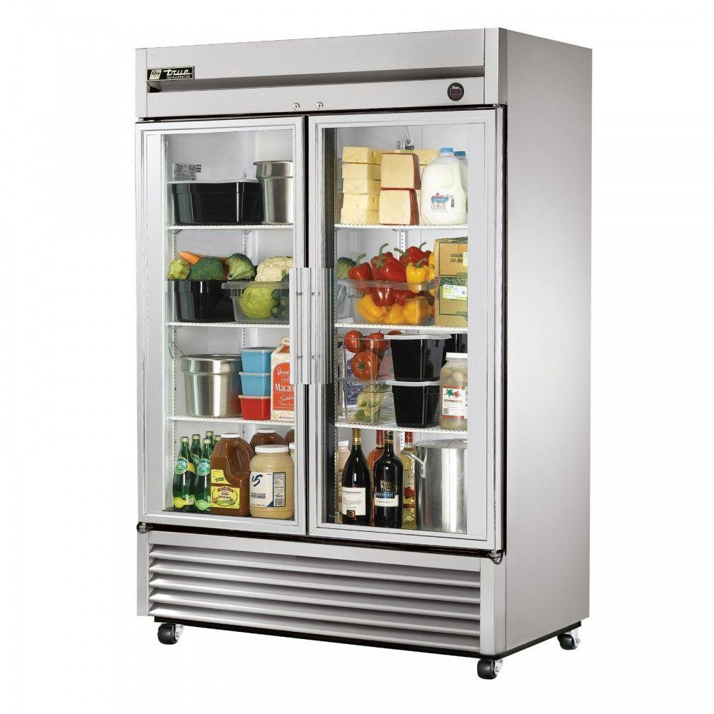 True T 49g Double Glass Door Commercial Refrigerator Beautiful