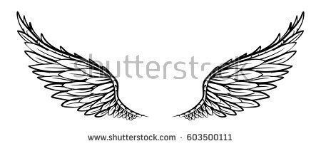 c3dd45bf7 the wing doodle | Wings tattoo | Tattoos, Bear tattoos, Wings drawing