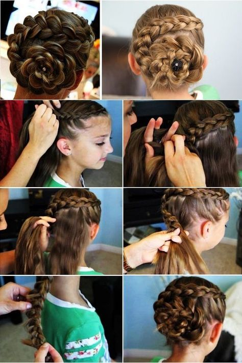 Dutch Flower Braid Hairstyle DIY Video Haare Pinterest - Hairstyle diy video
