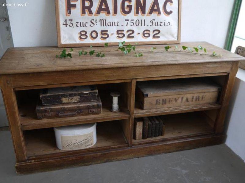 Ancien Meuble De Metier Comptoir Caisse De Mercerie Brocante De Charme Atelier Cosy Fr Meuble De Metier Comptoir Caisse
