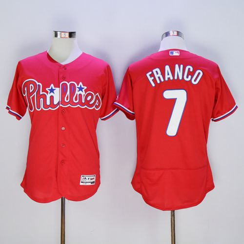 phillies 7 maikel franco red flexbase authentic collection stitched mlb jersey