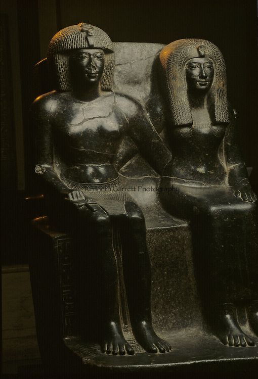 Staue of Tuthmosis IV and his mother, Tutankhamun and the Golden Age of the pharaohs.