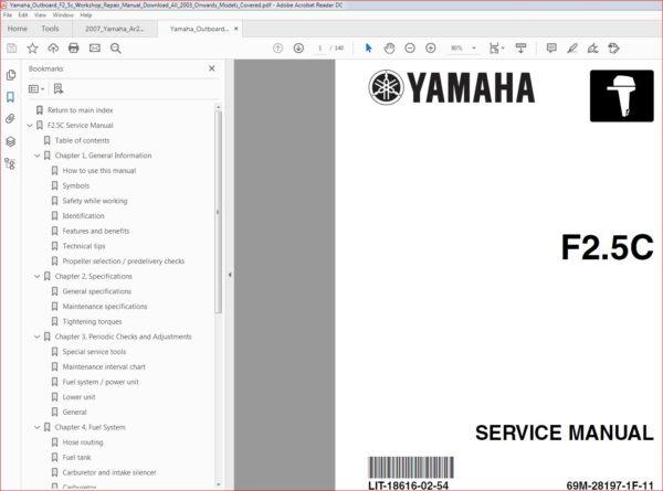 Yamaha Outboard F2 5c Workshop Repair Manual Download 2003 Pdf In 2020 Repair Manuals Manual Repair