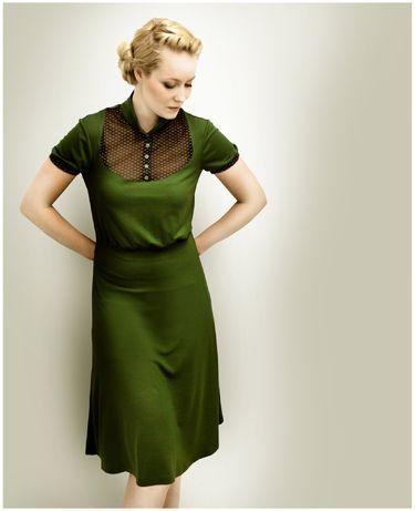 8859cc3ce0d2 M.I.R.A olive jersey dress   My Style   Pinterest   Kleider, Grünes ...