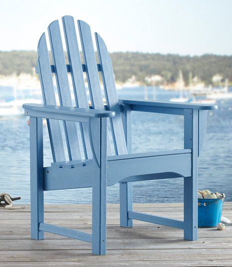 All-Weather Upright Adirondack Chair | outdoor decor | Pinterest