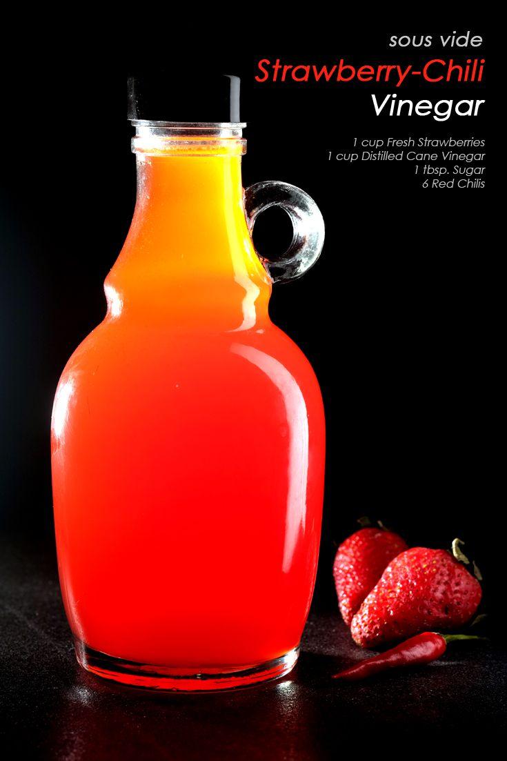 Sous Vide Strawberry Chili Vinegar Recipe Sous Vide Fine Dining Recipes Strawberry