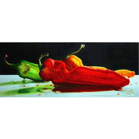 Trademark Fine Art Too Hot to Handle Canvas Art by Cecile Baird, Size: 16 x 47, Multicolor